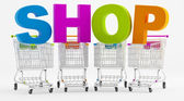 Shopping in a store — Stock Photo