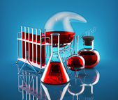 Chemical reaction — Stock Photo