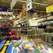 Trolley in a supermarket  — Stock Video