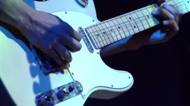 Electric Guitar at Rock Concert — Stock Video