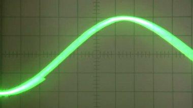 Parabolic Signal Oscilloscope — Stock Video