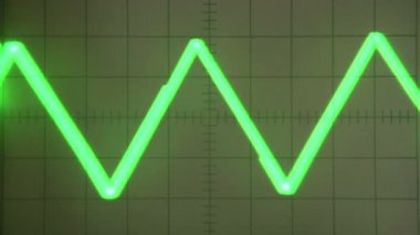 Analog oscilloscope screen — Stock Video
