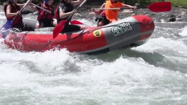 International Competitions rafting — Stock Video