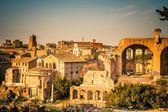 Ruins of Forum in Rome — Stok fotoğraf