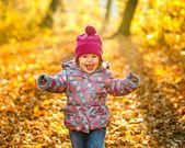 Little girl in the park — Stock Photo