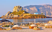 Little island Kastri near Kos, Greece — Stock Photo