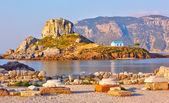 Little island Kastri near Kos, Greece — Stock Photo