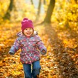 Little girl in the park — Foto Stock