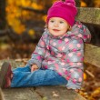 Little girl in the park — Foto de Stock
