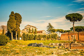 Roman empire ruins on Palatine Hill — Stock Photo