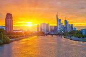 Frankfurt at sunset — Stok fotoğraf