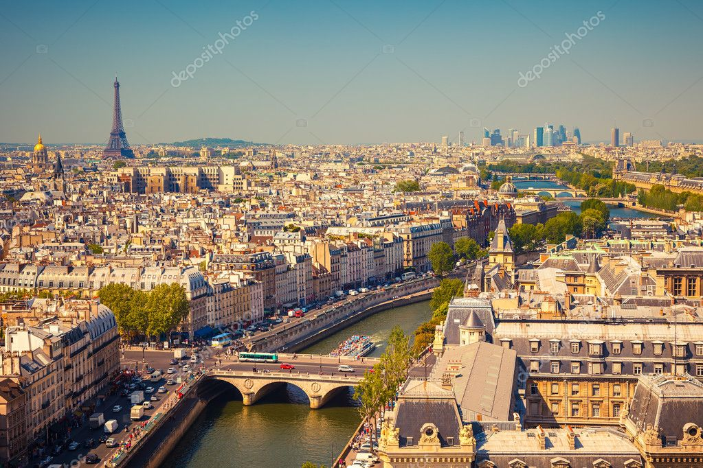 View on Paris form Notre Dame cathedral  Stock Photo #12808340