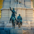 Miguel de Cervantes monument in Madrid - Stock Photo