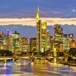 Frankfurt at night — Stock Photo