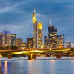 Frankfurt at night — Stock Photo #13124389