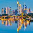 Frankfurt after sunset — Stock Photo