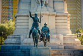 Miguel de Cervantes monument in Madrid — Stock Photo