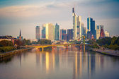 Frankfurt at morning — Stock Photo