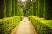 Garden of the Poets in Alcazar, Sevilla — Stock Photo