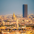 Tour Montparnasse and Les Invalides, Paris — Stock Photo