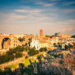Forum and Coliseum in Rome - Foto de Stock  