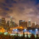洛杉矶在晚上 — 图库照片
