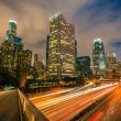 Los angeles in de nacht — Stockfoto
