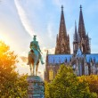 Stock Photo: Cologne at sunset