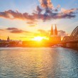 Stockfoto: Cologne at sunset