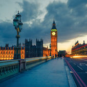 Big Ben at night, London — Foto Stock