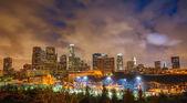 лос-анджелес в ночное время — Стоковое фото