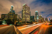 Los Angeles at night — Stockfoto