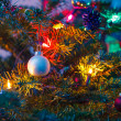 Decorated x-mas tree - Stock Photo