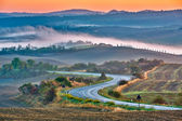 Tuscany landscape at sunrise — 图库照片
