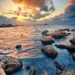 Big Sur Pacific Ocean coast at sunset — Stock Photo #14745377