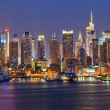 Stock Photo: Manhattat night