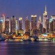 Manhattan at night — Stock Photo