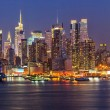 Stock Photo: Manhattan at night