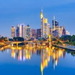 Frankfurt after sunset - Stock Photo