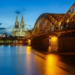 Cologne Cathedral and Hohenzollern Bridge, Germany — Stock Photo #14746093
