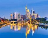 Frankfurt after sunset — Stock Photo