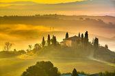 Toskana am frühen morgen — Stockfoto
