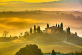 Tuscany at early morning — Stok fotoğraf