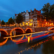 Canals in Amsterdam — Stock Photo #15427385