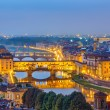 View on Arno river in Florence — Stok fotoğraf