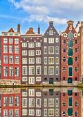 Traditional dutch buildings, Amsterdam — Stock Photo