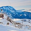Ski resort in French Alps — Stock Photo #15862805