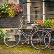 Foto Stock: Bicycles in Amsterdam