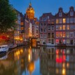 Amsterdam at night - Foto Stock