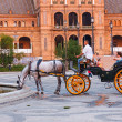 Horsedrawn cart on Plaza de Espana, Seville, Spain — Stock Photo